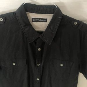 Dkny black shortsleeve shirt